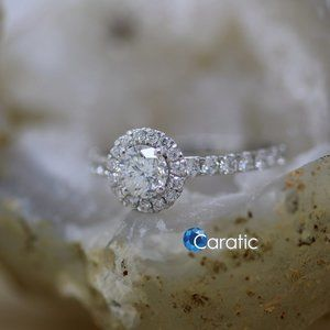 0.70 Ct Moissanite Silver Ring / Make to Order